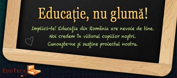 Câştigător Concurs EduTeca: Educaţie, nu glumă!