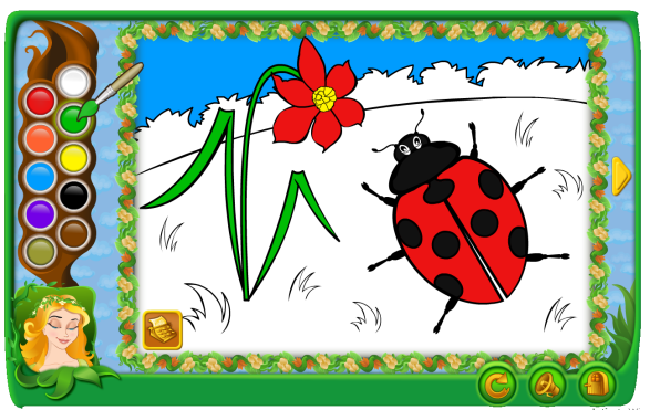 3 Coloreaza insectele primaverii
