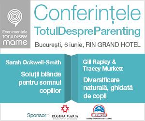 Conferințele Totul despre Parenting 6 IUNIE 2015, CONFERINŢA 1: 10.00 – 13.00 – 130 RON  Sarah Ockwell-Smith: Soluţii blânde pentru somnul copiilor