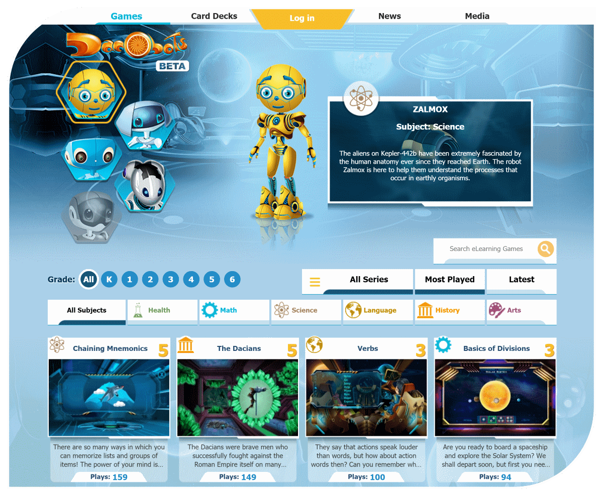 eLearning for Kids – Dacobots Portal eLearning for Kids – Dacobots Portal